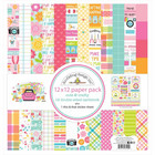 Doodlebug - Cute & Crafty, Double-Sided Paper Pack 12