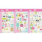 Doodlebug - Cute & Crafty Icons, Mini Cardstock Stickers, 2 arkkia