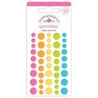 Doodlebug - Cute & Crafty, Sprinkles Adhesive Enamel Dots, Bright Assortment, 45 osaa