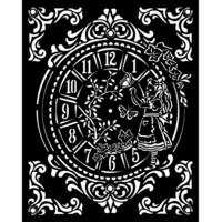 Stamperia - Stencil 20x25cm, Alice Clock