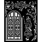 Stamperia - Stencil 20x25cm, Alice Door
