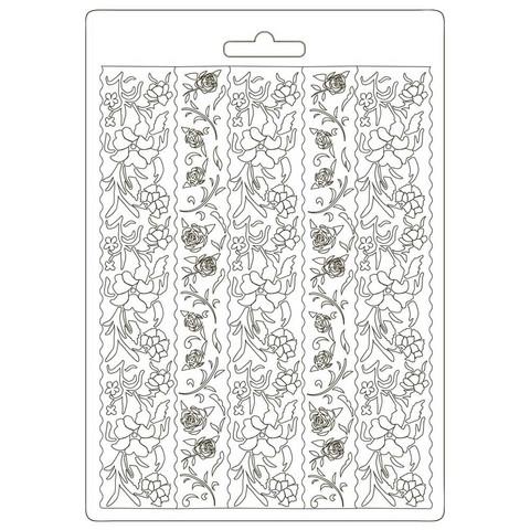 Stamperia - Alice, Soft Mould, Muotti, A5, Borders