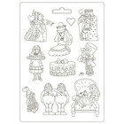 Stamperia - Alice, Soft Mould, Muotti, A4, King