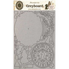 Stamperia - Alice, Greyboard A4, Clock, Leikekuvioarkki