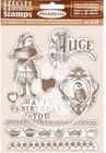 Stamperia - Alice, Rubber Stamp, Leimasetti, Happy Birthday