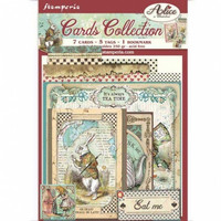 Stamperia - Cards Collection, Alice In Wonderland, 13 osaa