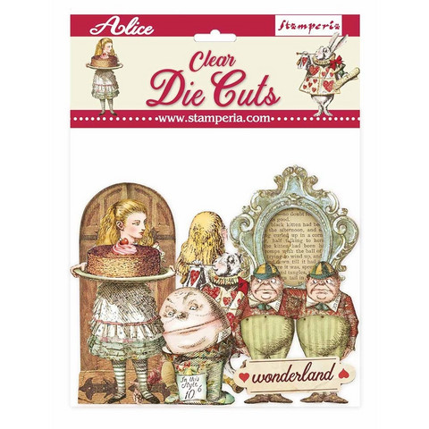 Stamperia - Alice Through the Looking Glass, Clear Die Cuts, 49osaa