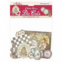 Stamperia - Alice Charms, Clear Die Cuts, 57osaa