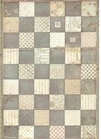 Stamperia - Alice, Rice Paper, A4, Chessboard
