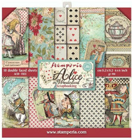 Stamperia - Alice in Wonderland, Paper Pack 6