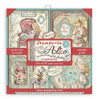 Stamperia - Alice in Wonderland and Through the Looking Glass, Paper Pack 12