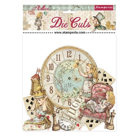 Stamperia - Alice Through the Looking Glass, Die Cuts, 47osaa