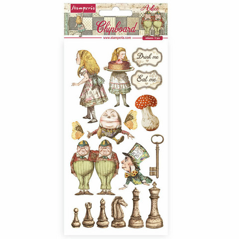 Stamperia - Alice Through the Looking Glass, Chipboard