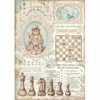 Stamperia - Alice, Rice Paper, A4, Queen Alice