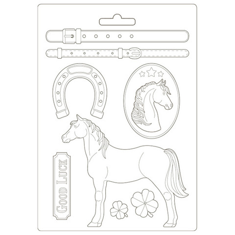 Stamperia - Romantic Horses, Soft Mould, Muotti, A4, Standing Horse