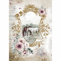 Stamperia - Romantic Horses, Rice Paper, A4, Lake
