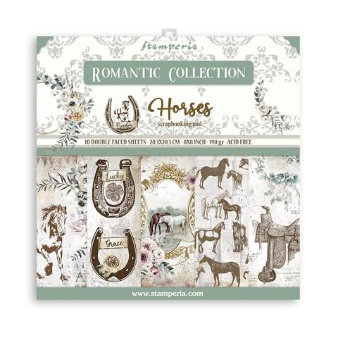 Stamperia - Romantic Horses, Paper Pack 8