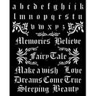 Stamperia - Sleeping Beauty, Stencil 20x25cm, Alphabet and Quotes