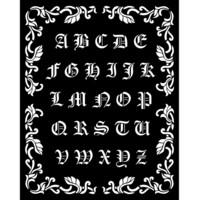 Stamperia - Sleeping Beauty, Stencil 20x25cm, Alphabet