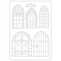 Stamperia - Sleeping Beauty, Soft Mould, Muotti, A4, Doors and Windows