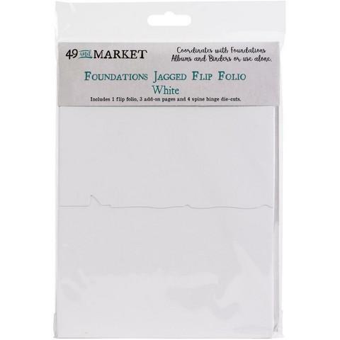 49 and Market - Foundations Jagged Flip Folio, White