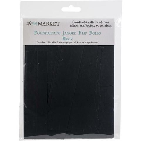 49 and Market - Foundations Jagged Flip Folio, Black