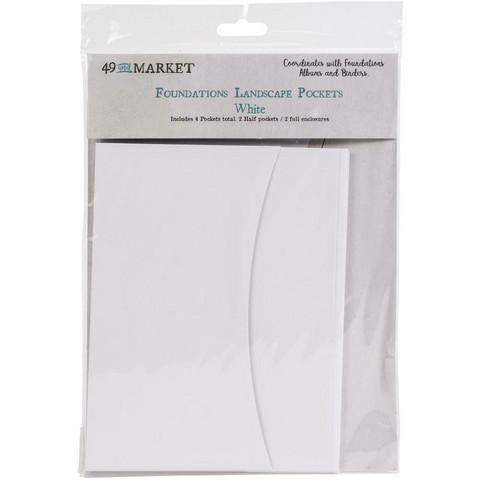 49 and Market - Foundations Landscape Pockets, White