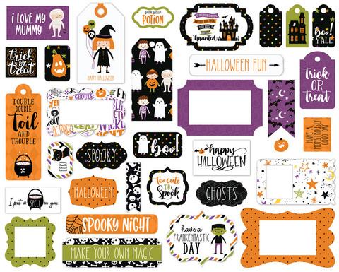 Echo Park - Halloween Magic Frames & Tags, Leikekuvia, 33 kpl