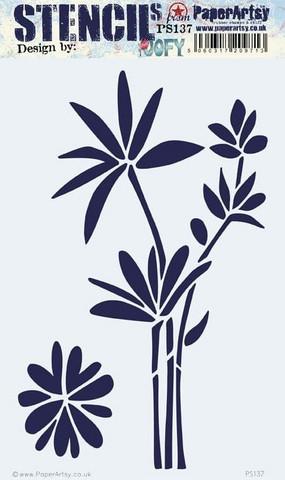 PaperArtsy - Stencil 137, Sapluuna