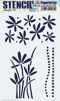 PaperArtsy - Stencil 135, Sapluuna