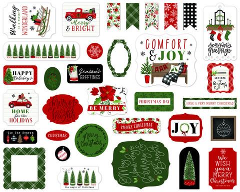 Carta Bella - Home For Christmas, Ephemera, 33 kpl