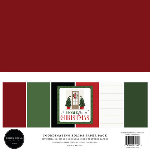 Carta Bella - Home For Christmas, Solids Kit 12