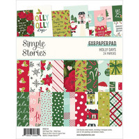 Simple Stories - Holly Days, Paperikko 6''x8'', 24sivua