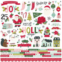 Simple Stories - Holly Days Cardstock Stickers, 12