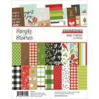 Simple Stories - Make It Merry, Paperikko 6''x8'', 24sivua