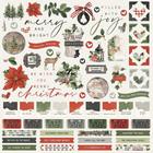 Simple Stories - Simple Vintage Rustic Christmas Cardstock Stickers, 12