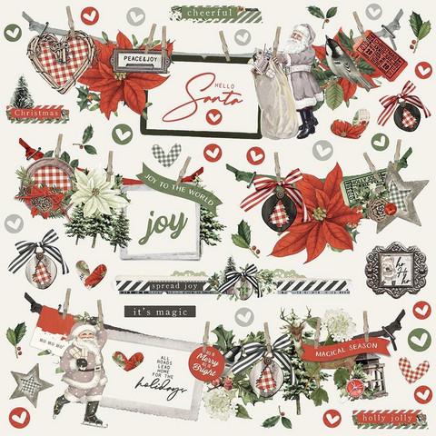 Simple Stories - Simple Vintage Rustic Christmas Banner Stickers, 12