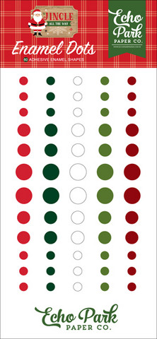 Echo Park - Jingle All The Way, Enamel Dots, 60 kpl