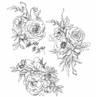 Tim Holtz - Floral Outlines, Leimasetti
