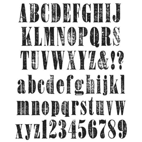 Tim Holtz - Worn Text, Leimasetti