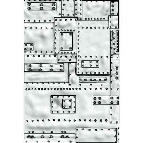 Sizzix - 3D Texture Fades Embossing Folder By Tim Holtz, Kohokuviointitasku, Mini Foundry