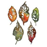 Sizzix - Thinlits Dies By Tim Holtz, Stanssisetti, Leaf Fragments