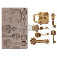 Prima Marketing - Decor Mould, Mechanical Lock & Keys, Silikonimuotti