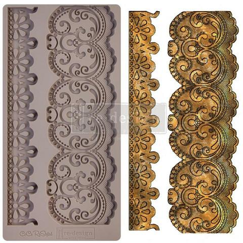 Prima Marketing - Decor Mould, Border Lace, Silikonimuotti
