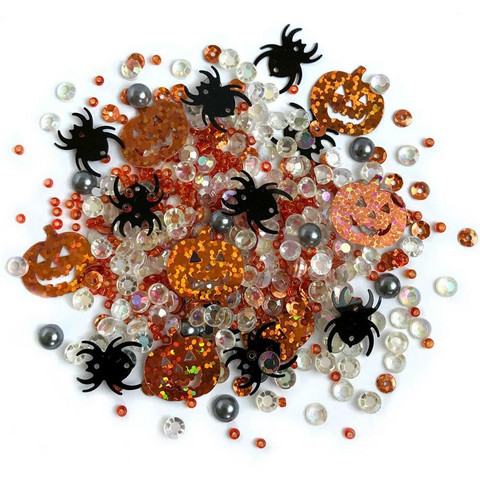 Buttons Galore - Sparkletz Embellishment Pack, 10g, Creepy Halloween