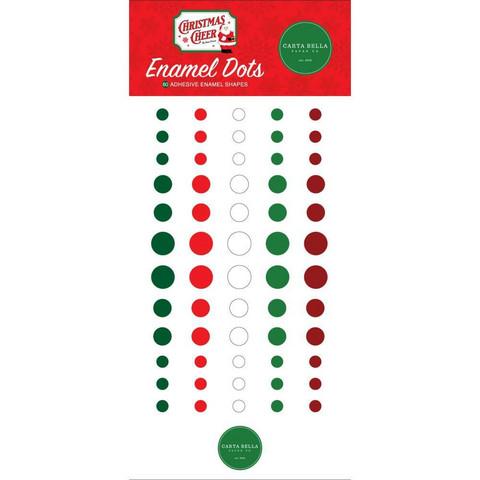 Carta Bella - Christmas Cheer, Enamel Dots, 60 kpl