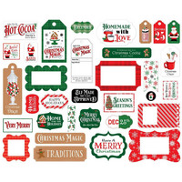Carta Bella - Christmas Cheer Frames & Tags, Leikekuvia, 33 kpl