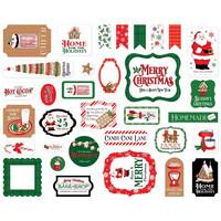 Carta Bella - Christmas Cheer, Ephemera, 33 kpl