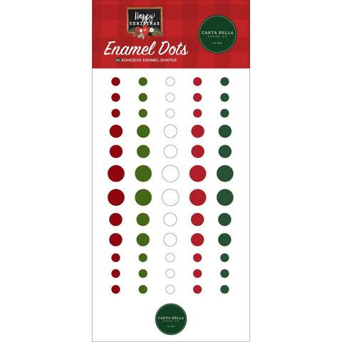 Carta Bella - Happy Christmas, Enamel Dots, 60 kpl
