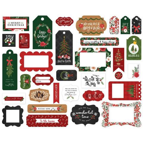 Carta Bella - Happy Christmas Frames & Tags, Leikekuvia, 33 kpl